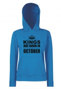 BLUZA KANGUR KINGS ARE BORN IN OCTOBER