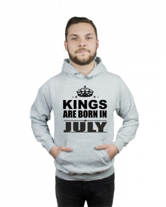 Bluza kangur KINGS ARE BORN IN JULY