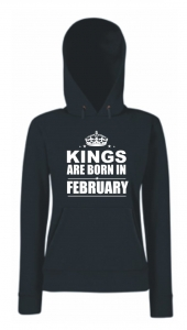BLUZA KANGUR KINGS ARE BORN IN FEBRUARY