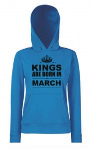 BLUZA KANGUR KINGS ARE BORN IN MARCH