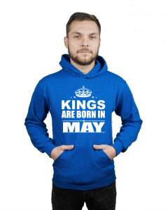 Bluza kangur KINGS ARE BORN IN MAY