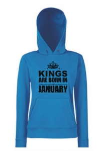BLUZA KANGUR KINGS ARE BORN IN JANUARY