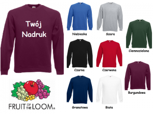 Bluza z Twoim nadrukiem Fruit of the loom